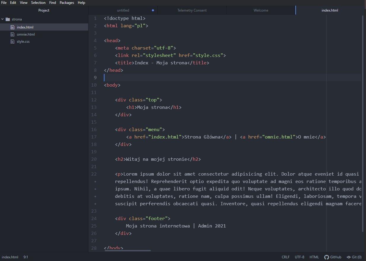 Atom - edytor kodu