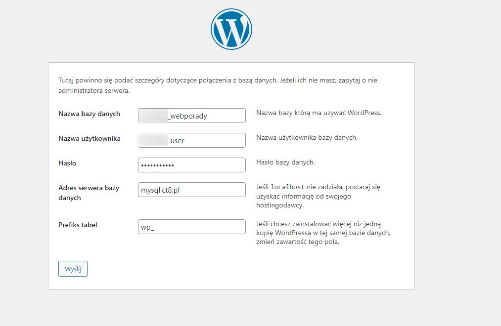 Łączenie z bazą danych w WordPress