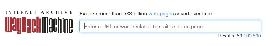 Wprowadzanie adresu URL - archiwum stron